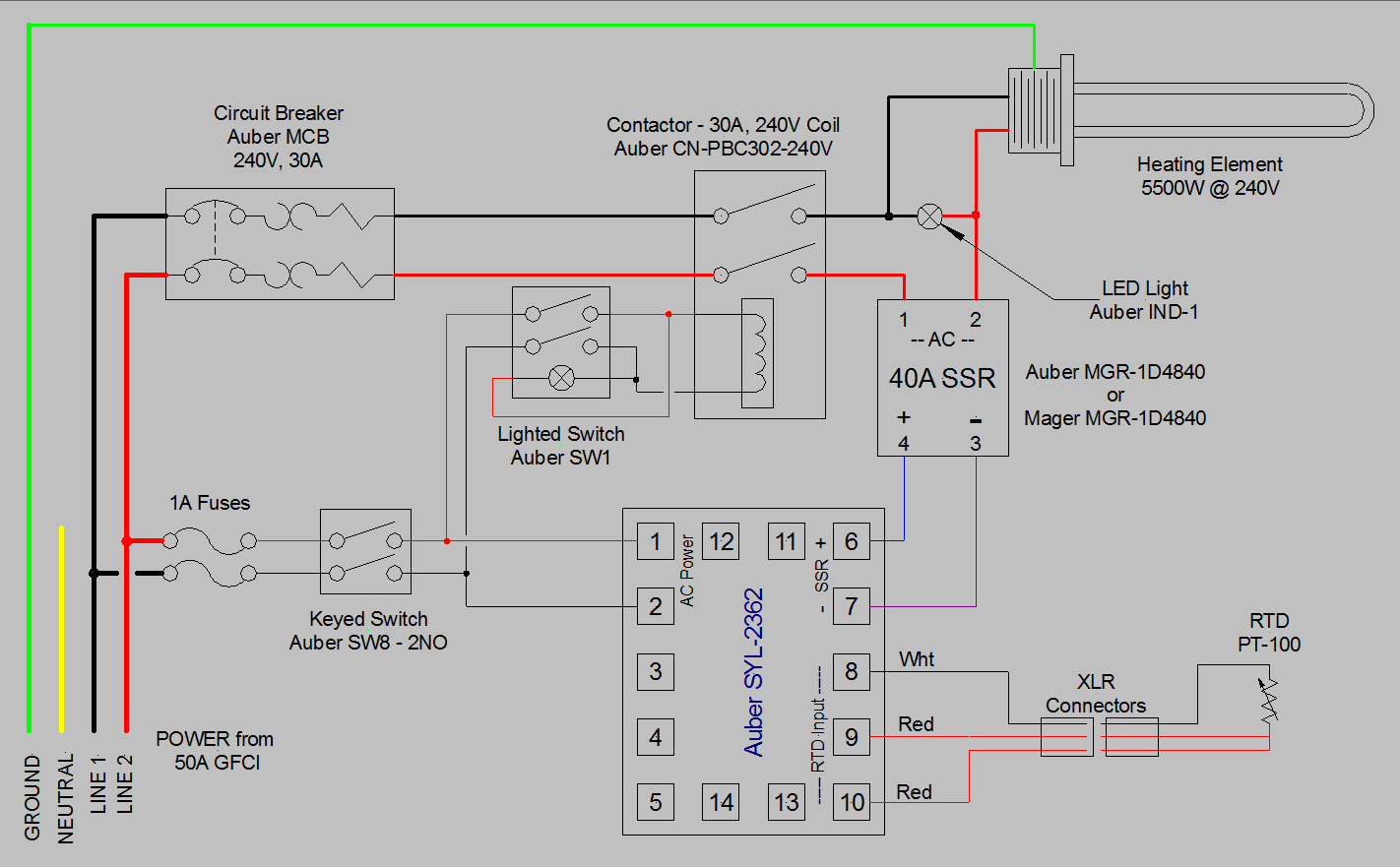 Pid Smoker Controller Wiring Diagram Trusted 5500w 240v Auto Electrical Temp Single Pot