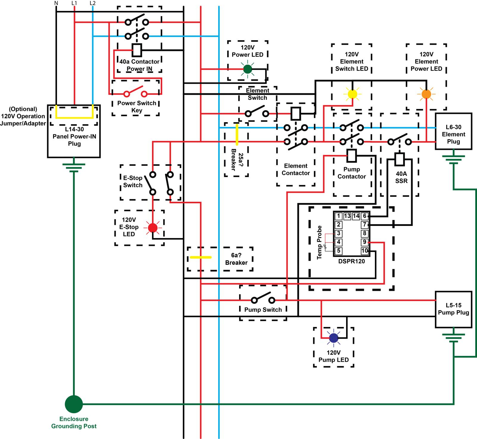120v led wiring diagram 120v rims turned 240v ebiab - feasible? | homebrewtalk.com ... 120v switch wiring diagram