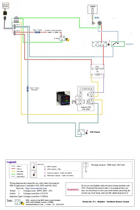 how do you run 240v on single leg for 120v pid control ... pid controller wiring diagram 230v kiln