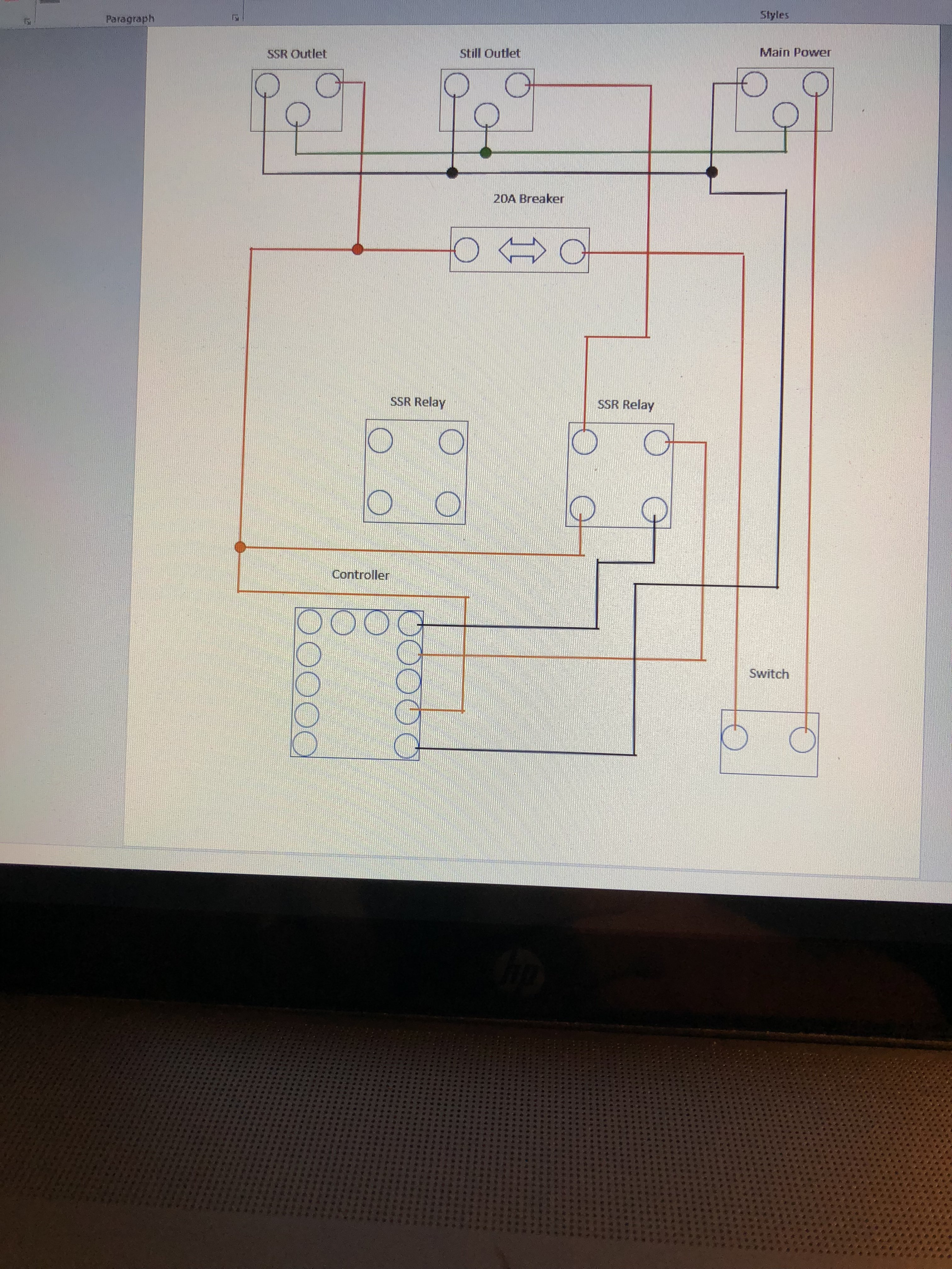 wiring question in a ssr to outlet running a 110v heater ...