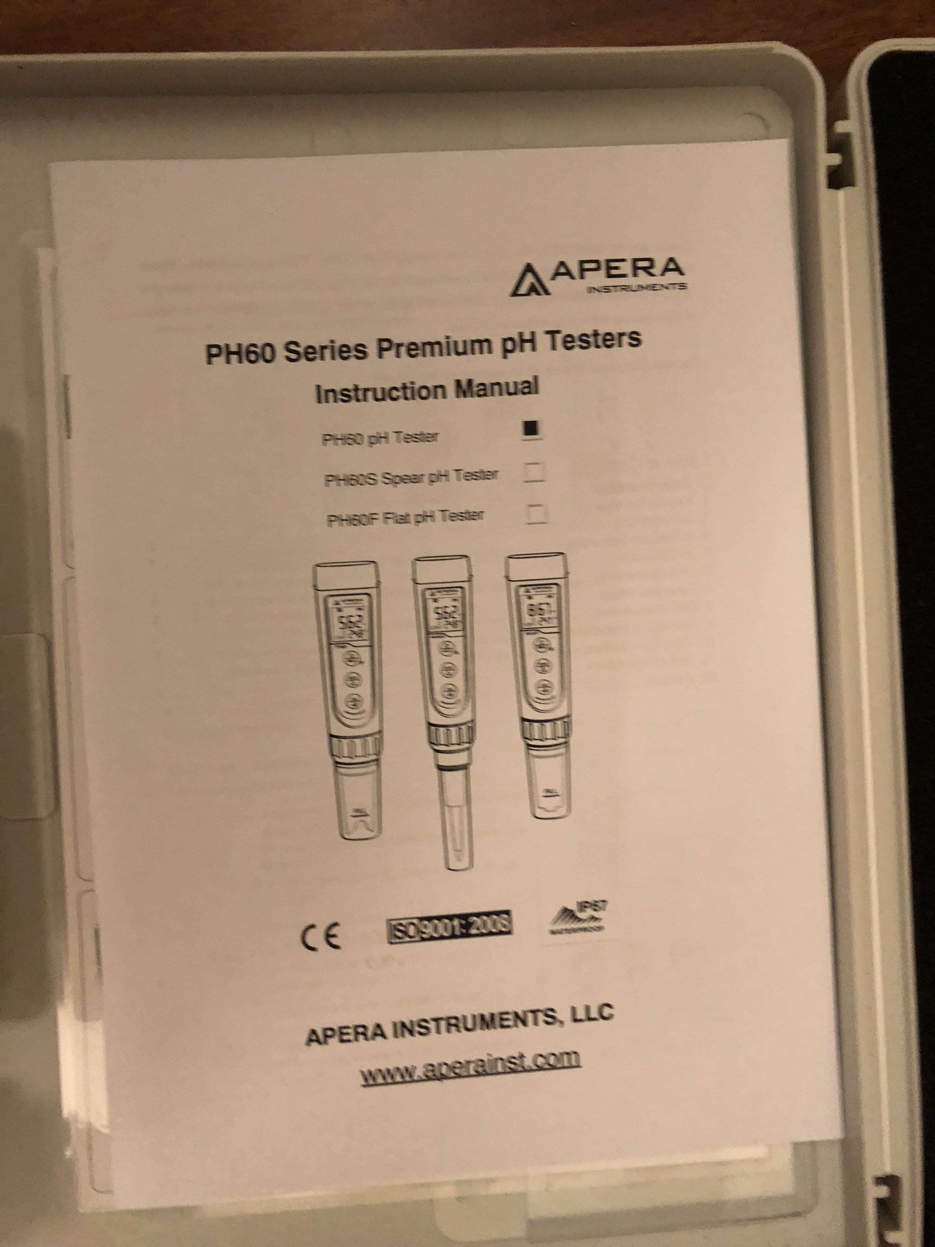 New York - Perlick 630SS / Apera AI311 pH60 pH Meter