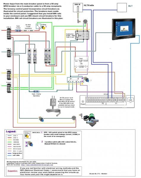 my all new electric bcs 460 brewery homebrewtalk com beer wine rh homebrewtalk com Automotive Wiring Diagrams Residential Electrical Wiring Diagrams