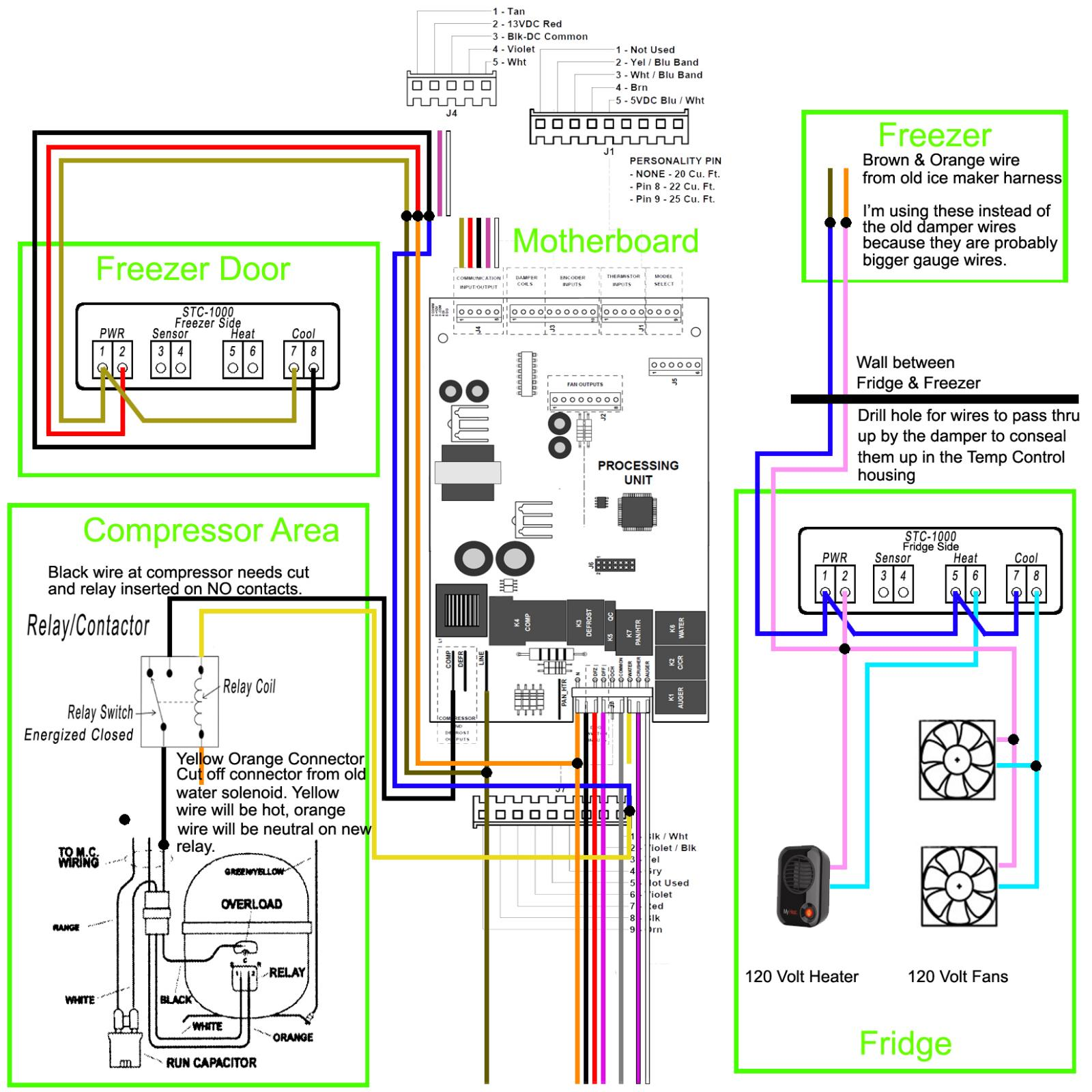 Wiring Help Please Side By Fermentation Kegerator Wire Diagram For Ge Refrigerator Model 22 25 Both Controllers Schematic Kgmac311