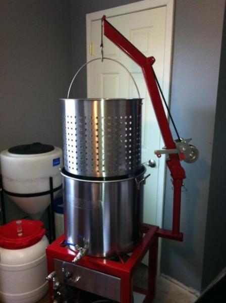 Biab Brew Stand With Hoist And Pump Homebrewtalk Com