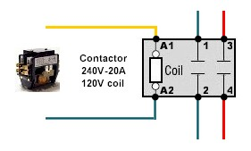 contactor pole wiring question homebrewtalk com beer, wine, mead 220 volt wiring diagram contactor wiring jpg