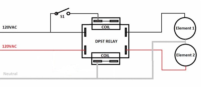 wiring help needed for dpst relays - home brew forums,Wiring diagram,Wiring Diagram For A Relay 120 Volt Relay