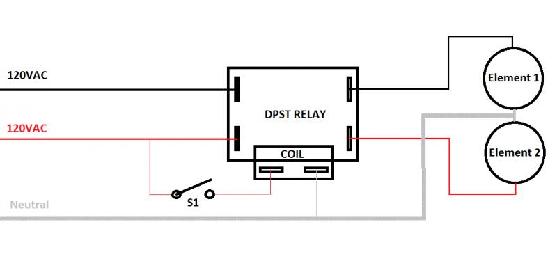 wiring help needed for dpst relays. Black Bedroom Furniture Sets. Home Design Ideas