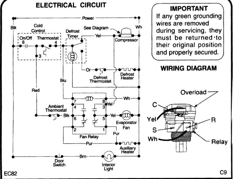 Best very best simple wiring diagram for frigidaire refrigerator amazing frigidaire refrigerator wiring diagram images electrical asfbconference2016 Gallery