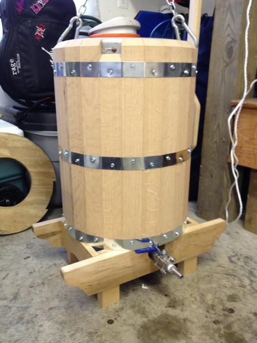 Wooden Mash Tun Homebrewtalk Com Beer Wine Mead