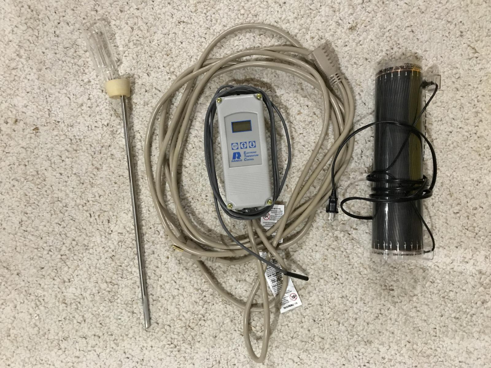 Michigan Ranco Digital Temp Controller Thermowell Heat Wrap The Temperature Img 0552