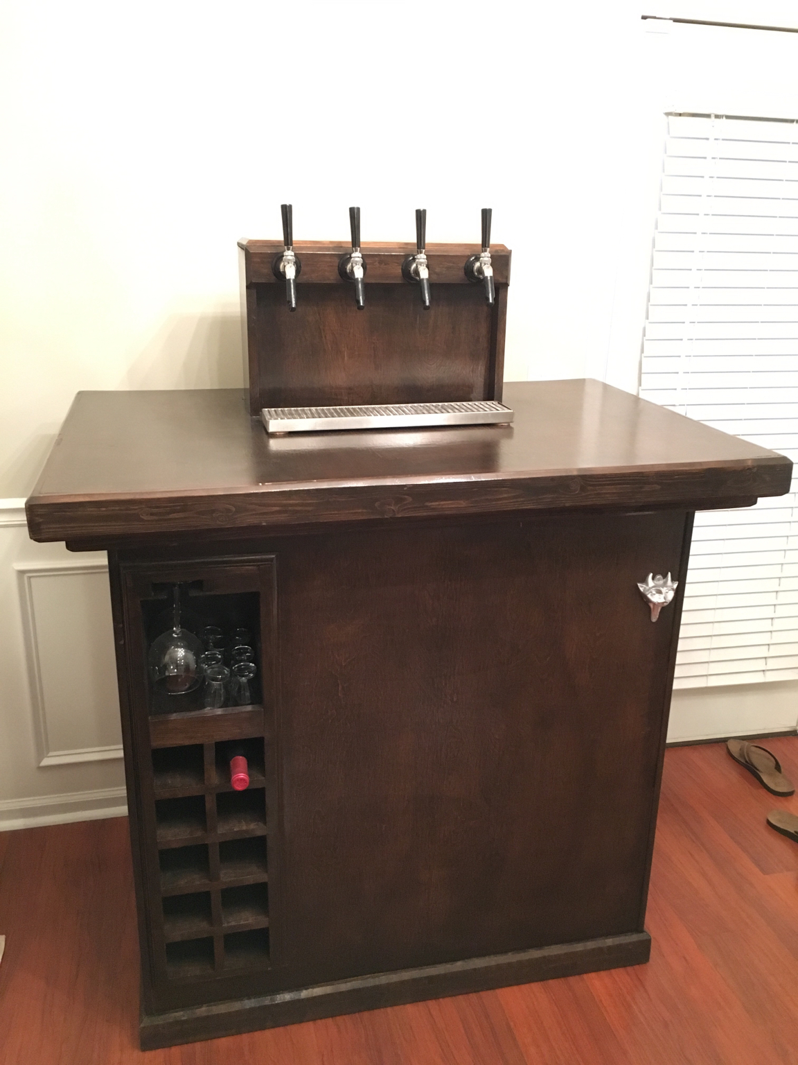 Home Bar Build With Kegerator Homebrewtalk Com Beer Wine Mead