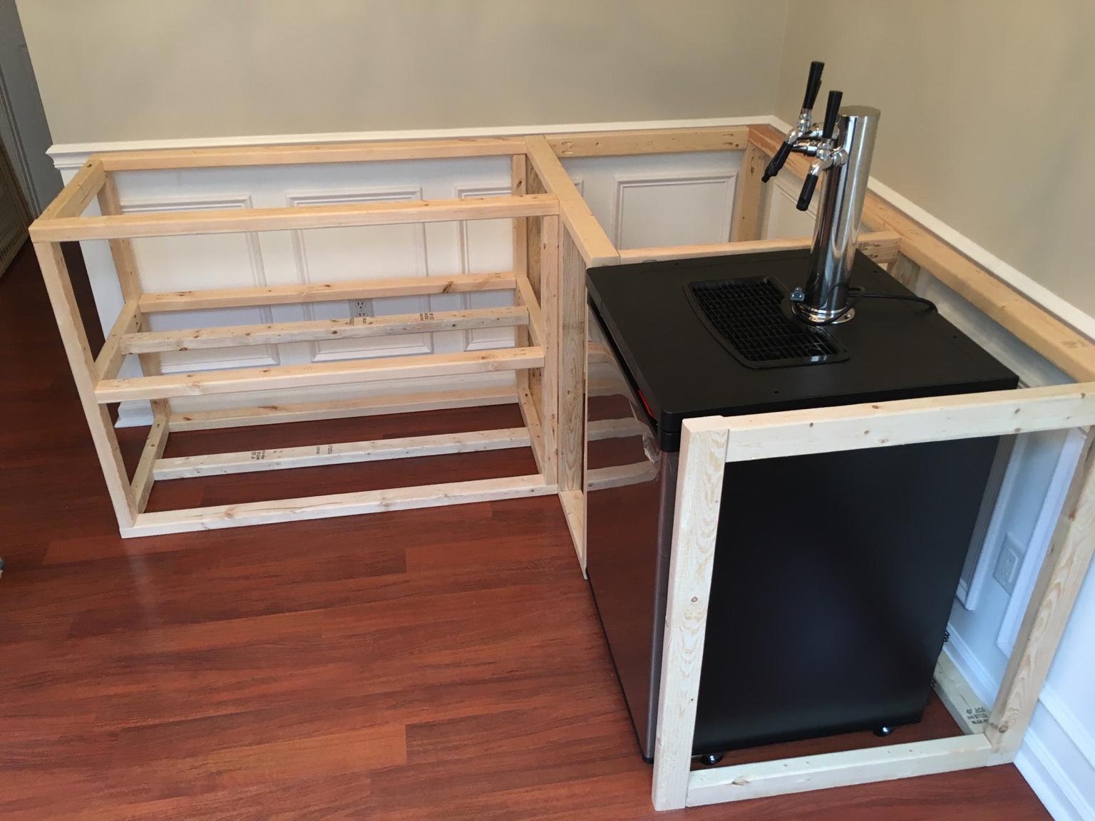 Home Bar Build with Kegerator | HomeBrewTalk.com - Beer, Wine, Mead ...