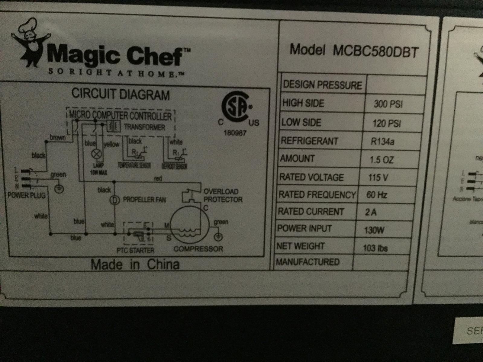 Temperature Controller Wiring Beer Wine Mead Magic Chef Microwave Diagram Beverage Cooler