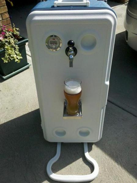 Corny Cooler Portable Kegerator Homebrewtalk Com Beer