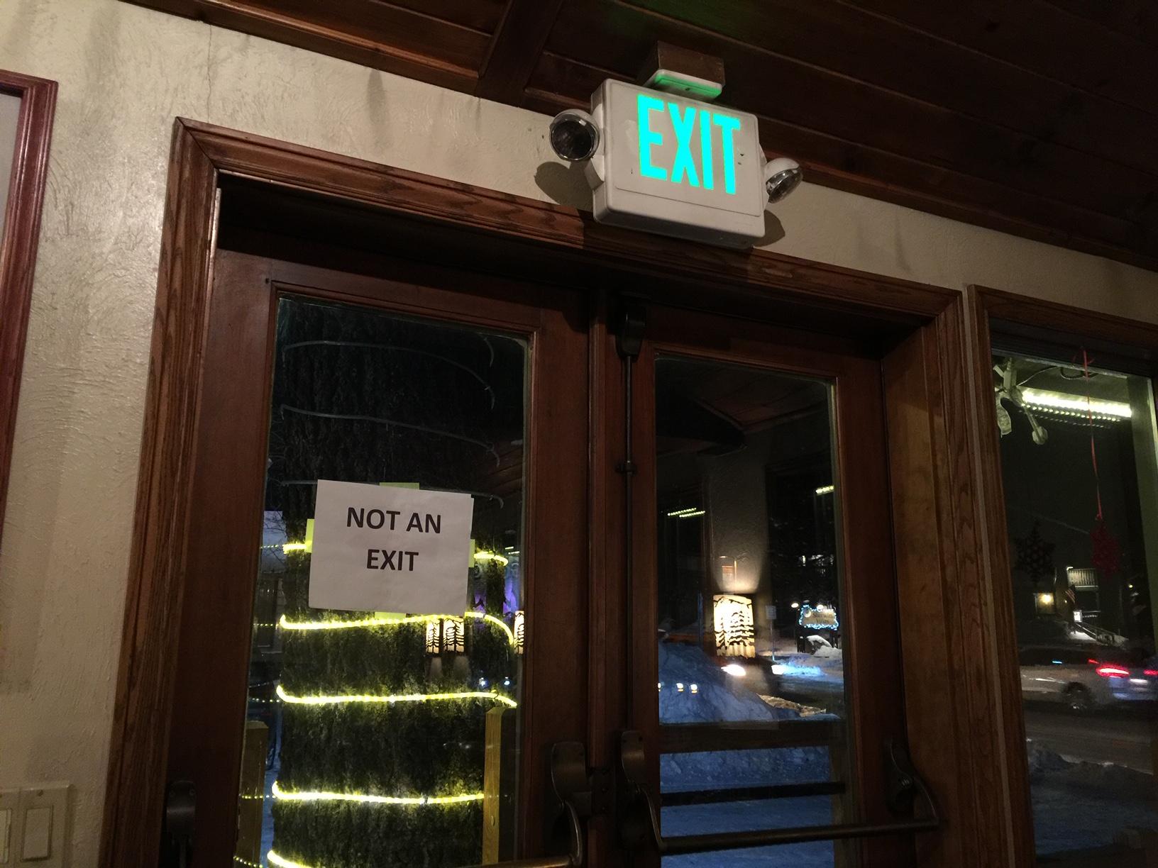 Not an Exit.JPG