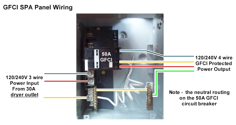 Spa Gfci Breaker Wiring Diagram On 2 Pole Gfci Breaker Wiring Diagram