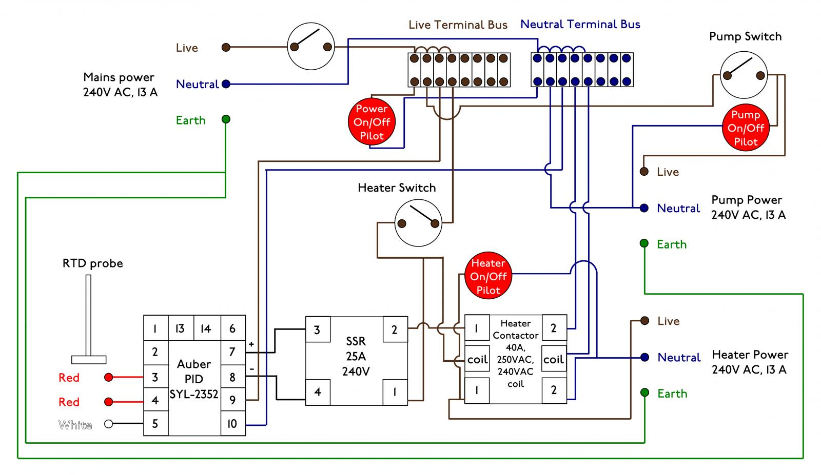 Help With Ebiab Circuit Design Beer Wine Mead Auber Pid Wiring Diagram Rect3554