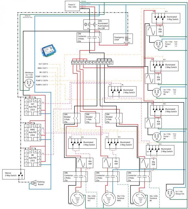wiring schematic hybrid bcs pid homebrewtalk com beer wine rh homebrewtalk com