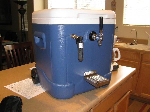 5 Gallon Igloo Portable Kegerator Homebrewtalk Com
