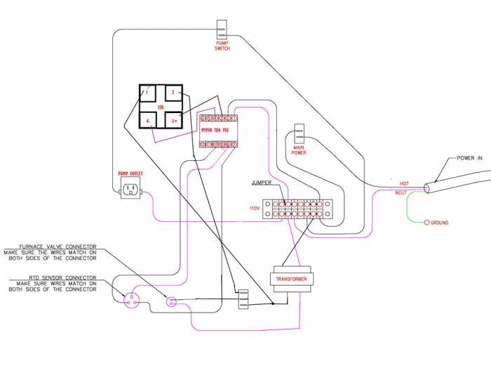 wiring diagram help for direct fired system