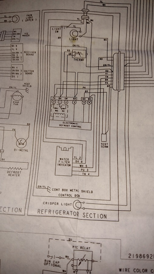 side by side refrigerator fermentation chamber build home brew click image for larger version whirlpool conquest wiring schematic refrigerator section jpg